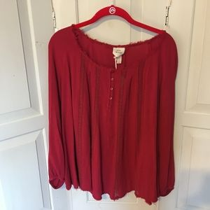 Knox Rose Red Boho Tunic